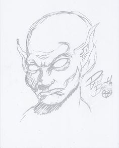 Paul Booth Autographed Signed Artwork Sketch COA 'Tattoo Artist'