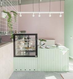 Cake Shop Interior, Coffee Shop Interior Design, Coffee Shop Design, Retail Interior, Restaurant Interior Design, Restaurant Furniture, Cake Shop Design, Bakery Design, Design Design