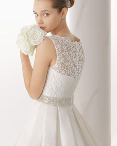 163 NIQUEL | Wedding Dresses | 2014 Collection | Alma Novia (close up back)