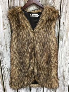 Brown Faux Fur Vest by HadarahBoutique on Etsy