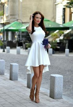 vestido blanco boda civil                                                                                                                                                                                 Más