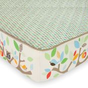love this bumperless crib bedding, and its tree top friends and matches our nursery!