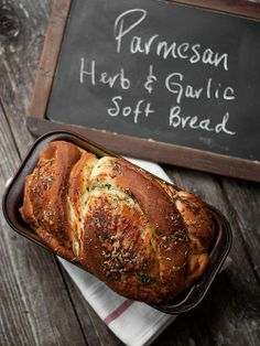 Parmesan - Herb & Garlic - Soft bread (Recipe)