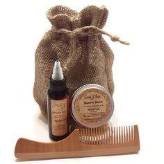 Beard Care Kit - Men's Beard Care Kit - Gift for Him - Handmade Beard Oil - Beard Balm - NEW Beautiful SANDALWOOD Beard Comb