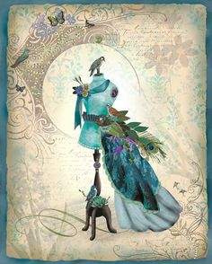Fashion Fantastique Dress art by Lori Siebert by LoriSiebertStudio