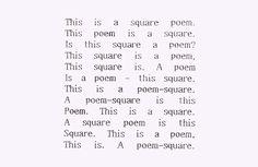 Square Poem by Bob Cobbing