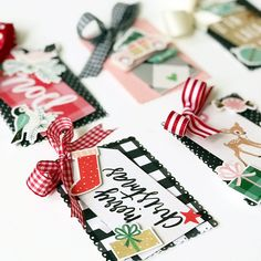 Add layered Christmas tags to your holiday gift wrapping! Learn how to make these using holiday paper collections with Foam Squares and Crafty Foam Tape. Holiday Gift Tags, Christmas Tag, Christmas Decorations, Holiday Festival, Card Holders, Craft Tutorials, Paper Crafting, Customized Gifts, Special Day