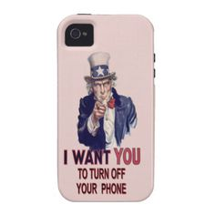 Spoof Uncle Sam Vibe iPhone 4 Cases