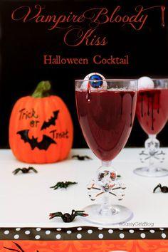 Vampire Bloody Kiss Halloween Cocktails Party Recipe | Sassy Girlz Blog