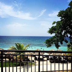 The view from an oceanfront suite at Secrets Wild Orchid Resort and Spa in Montego Bay, Jamaica
