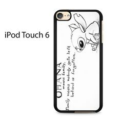 Ohana Means Family - Lilo and Stitch Ipod Touch 6 Case