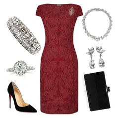 Graduation Ceremony by nmccullough on Polyvore featuring polyvore fashion style Phase Eight Christian Louboutin Edie Parker Mark Broumand Cartier Harry Winston clothing