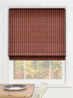 Summerbee Rich Red Roman Blind from Blinds 2go