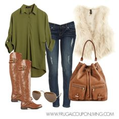 Frugal Fashion Friday Fur Vest Outfit for Your Fall Look