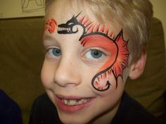 dragon face paint by elvira