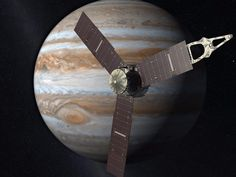 'Welcome to Jupiter!' NASA's Juno space probe arrives at giant planet. ~~~~NASA says it has received a signal confirming its Juno spacecraft has successfully started orbiting Jupiter, the largest planet in our solar system. Juno Jupiter, Jupiter Moons, Jupiter Planet, Jupiter Facts, Nasa Juno, Great Red Spot, Juno Spacecraft, Nebulas, Space Probe