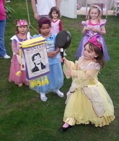 Princess Birthday Party Ideas | Photo 1 of 67 | Catch My Party omg i love using the pan to open the pinata just like in the movie how the princess beat the crap out of the guy with it lol