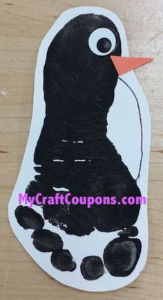 My Craft Coupons: Pot Belly Penguin Footprint Art footprint crafts Daycare Crafts, Classroom Crafts, Baby Crafts, Daycare Rooms, Toddler Art, Toddler Crafts, Infant Crafts, Winter Crafts For Kids, Art For Kids