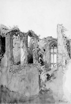 Medieval ruins at Kenilworth I Sir John Ruskin Art Nouveau, John Everett Millais, Building Drawing, John Ruskin, Pre Raphaelite, Architecture Drawings, Watercolor Art, Illustration Art, Illustrations
