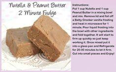 Nutella and Peanut Butter 2 Minute Fudge