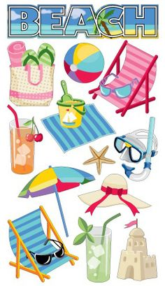 Beach > Beach Time Sticko Stickers: Stickers Galore $1.69