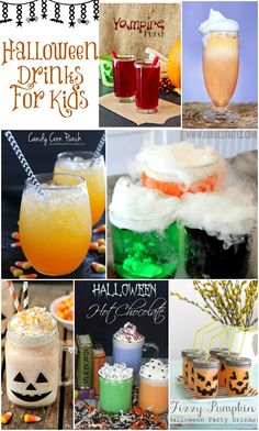 Halloween Drinks For Kids - these are so fun! Love the floats, punch, fizz and more!