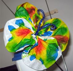 Coffee Filter Butterflies: Crafts for Kids. Lessons and Activities for children in kindergarten to grade 12: KinderArt ®