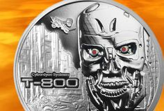 Terminator T-800 Set 1 & 2 Oz Coins .999 Silver Proof Rounds With COA Numbered