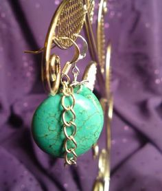 Turquoise In Chains earrings by JezwynJewellery for $10.00
