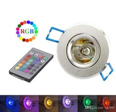 3W 85-265V RGB Ceiling Downlight Ceiling Lamp Wall Lights Recessed Lamp Spotlight + Remote Control RGB LED Bulbs KTV DJ Party LED Spotlight Online with $5.24/Piece on Ok360's Store   DHgate.com