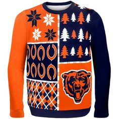 Chicago Bears Navy Blue Busy Block Ugly Sweater. I didn't know how much I needed this until now.