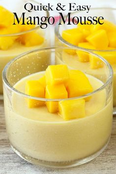 Super simple and perfect to get ready for the coming heat. It has a creamy and light texture with wonderful mango flavour. Top this delicious and refreshing dessert with some cubed mango. Oh la la! Mango Dessert Recipes, Refreshing Desserts, Pureed Food Recipes, Sweet Desserts, Easy Desserts, Mango Recipes Quick, Juicer Recipes, Detox Recipes, Salad Recipes