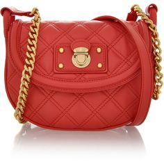MARC JACOBS Noho Quilting Coral Bag ❤ liked on Polyvore
