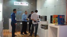 O Engenheiro Sr. Fagner Brasil e o Diretor Marcos Oliveira visitam o stand da Netz Service na FIEE ( 28ª Feira Internacional da Indústria Elétrica, Energia e Automação) realizada no Pavilhão de Exposições do Anhembi