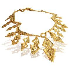 Bespoke Amazonian yellow gold necklace