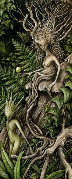 """Hedge Dryad •  The Tiny Fairies Chant~ """"she needs to leave, hehehehe, yes, like a leaf, hehehe, she needs to leave hehehehe, like a leaf hehehe"""" """"Shhhh, the Wicked One will hear you!"""""""