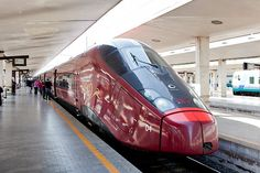 An Italo train in Florence, Italy, on April 28