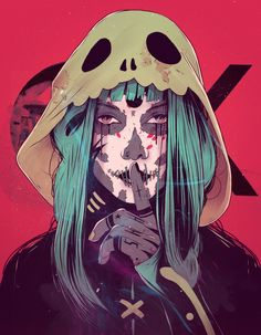 by Conrado Salinas Arte Horror, Horror Art, Dark Fantasy Art, Fantasy Girl, Character Inspiration, Character Art, Daily Inspiration, Art Cyberpunk, Art Sketches