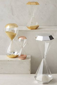 The Gold Diamond Shaped Hourglass from Anthropologie Prop Design, Deco Design, Sand Glass, Anthropologie Home, Sand Timers, European Home Decor, Decorating Coffee Tables, My New Room, House Rooms
