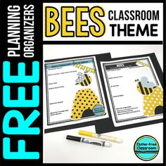 Your interest in getting the Bee Themed Classroom Planning Organizers tells me that you are a teacher who is striving to create a beautiful learning environment for your prec. First Day Of School, Back To School, Teacher Planner Free, Bee Theme, Elementary Teacher, Planner Pages, Classroom Themes, Fun Learning, Teacher Resources