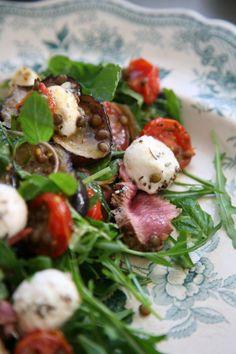 Greek Eggplant, Lamb & Goats' Cheese Salad Ripe Recipes - A Fresh Batch By Angela Redfern