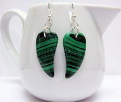 Green Malachite Earrings  Green Gemstone by MyGemstoneDesigns, $24.00