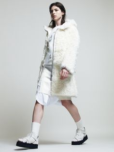 Lookbook Fall Winter Woman Collection 2014/15 - White Cocoon and Shiny Features