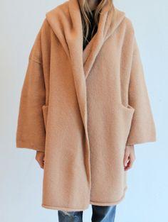 hellocampcomfort:lauren manoogian capote coat in camel via mille