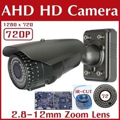 "AHD720D CCTV HD AHD Outdoor CAMERA 72 IR Color 1/4 ""CMOS Sensor 720P Security Cameras with IR-CUT Zoom Lens Free Shipping"
