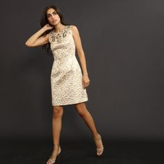now on eboutic.ch - dress for women - fitted cut beige Famous Brands, Sexy Outfits, Feminine, Glamour, Beige, Elegant, Formal Dresses, Unique, Clothes