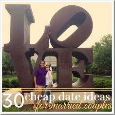 30 Cheap Date Ideas for Married Couples | 4tunate.net