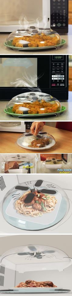 The Hover Cover acts as a lid for all your spill/splash worthy items that go into the microwave, the Hover Cover sits on top of them, allowing the microwaves to work their wonders on the food inside, without having it splatter outside. The best part is the Hover Cover's magnetic lid, which allows you to stick the cover to the top of the microwave's insides when not in use. BUY NOW!
