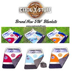 Brand New VW Bus Picnic Blankets now available at www.coolvwstuff.com