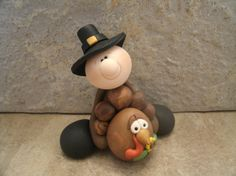 Thanksgiving Pair by countrycupboardclay on Etsy, $9.95